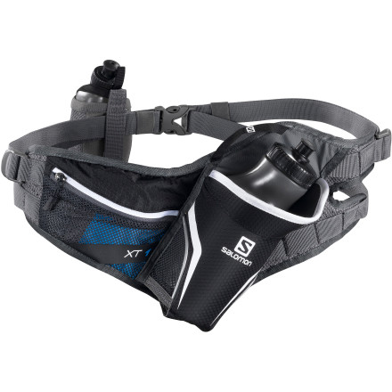 Camp and Hike Salomon designed the XT One Lumbar Pack to keep your water at your waist where it won't heat you up. Salomon augmented the conveniently located 20 ounce bottle with a  front flask holder for longer runs. - $34.97