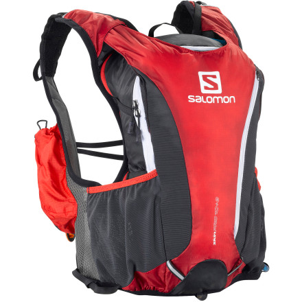 Fitness Salomon designed the form-fitting Skin Pro 10+3 Hydration Backpack Set with stretch elements that literally hug your back. This eliminates the bouncing around and shifting that you normally get with run-specific hydration packs. The added space (about 800 cubic inches) also gives the Skin Pro 10+3 enough room for a light lunch, a first-aid kit, and a rain jacket, so you can crank up the mileage with confidence. - $149.95