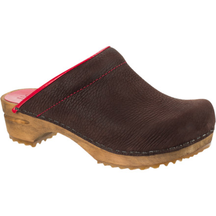 The Sanita Women's Leia Open Clog has a faux-wood sole that harkens back to the first wooden clogs made by Sanita 103 years ago. In reality, though, it made of flexible PU that offers more comfort and support than the company's founder ever could have imagined. - $21.00