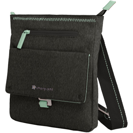 Entertainment Lean and light but ample enough to accommodate your e-reader or other favorite device, the Sherpani Women's Skeet Shoulder Bag won't deprive you of your daily needs and wants. This crossbody carrier features an adjustable strap for everyday fit and pockets for easy organization. Recycled nylon and Sherpani's signature floral lining withstand wear and tear while looking fabulous. - $42.95