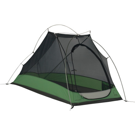 Camp and Hike There's no need to drag around any more tent then you need when you hit the trail solo. The Sierra Designs Vapor Light 1 Tent is a three-season shelter with ultralight mesh, a compact vestibule, and the protection you need to help weather a wet spring or blustery fall. Some prefer the door of a tent at the side and some the head; this tent offers the later. The vestibule offers seven square feet of storage space (enough for a weekend pack and your boots), and inside the Vapor Light, you'll find more than three feet of head space so you can sit up when you want to. Setup is a breeze thanks to the freestanding design and the hubs at the pole junctions. At just a touch over three pounds, this is a reliable, go-to option for single-person backpacking missions spring through fall and in areas that have mild to moderately wet conditions. - $259.95