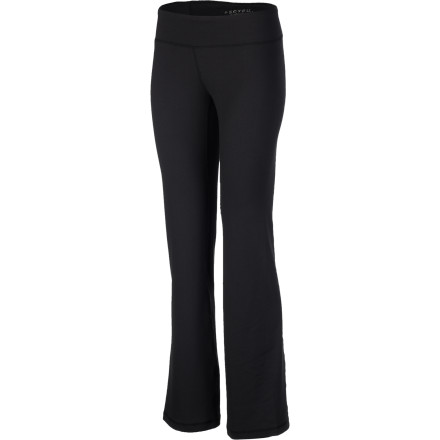 Fitness The soft, smooth, and lightweight Soybu Women's Lotus Pant flatters your body with sleek profile and easy fit. The Soybu Stretch Re-Flex wonder fabric dries in a jiffy, resists wrinkles, breathes and wicks away sweat for long-session comfort, and stretches with your every pose. It's the perfect companion for yoga retreats or all-day workshops. - $54.95