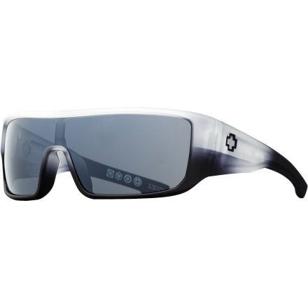 MTB Head from the mountain bike trail to the club in the Spy Carbine Sunglasses'although you should probably shower first. Its design features a larger frame size and a six-base curvature to offer superior protection from the sun without compromising style. - $119.95