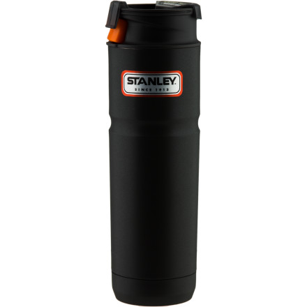 Camp and Hike For the sipping convenience of a mug with the long-term heat retention of a thermos, look no further than the Stanley One Hand Vacuum Mug. The push-button lid design allows you to open and close the lid with one hand while the vacuum-style insulation keeps your morning brew hot for up to six hours. - $29.95