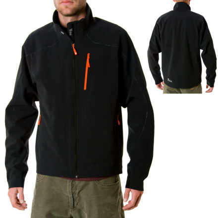 Ski Stoics welded-softshell Monolith Softshell Jacket plays hard in the mountains, but its under-the-radar tech helps you avoid the call-it-in-on-the-sat-phone look when its time for beverages in town. Stoics Monolith Softshell takes over where your past harshell-midlayer combos have fallen short. This fully welded, midweight softshell jacket stands up to natures worst without leaving you to suffer in your own body heat. Thats right, Stoics Monolith softshell fabric breathes well enough to keep up with a redlining heart when your ski cut fails a fair bit deeper than you had planned. The Monoliths high collar keeps all that blood flowing through your jugulars nice and warm, and the welded zipper-pockets offer safe refuge for your food, tech gadgets, and keys. - $71.60
