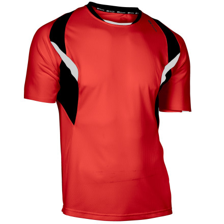 Fitness The Sugoi RSR Shirt fits like a next-to-skin baselayer and wicks away excess moisture as you run. Flatlock seams increase comfort without chafing, mesh inserts provide increased ventilation, and stretchy fabric won't constrict your movements. - $19.98