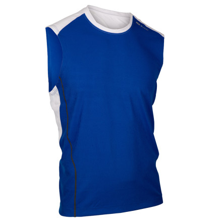 Fitness Sugoi made its Merlin Shirt with a relaxed fit and moisture-wicking FinoTech fabric to keep you cool, collected, and comfortable during warm-weather workouts. Its flatlock stitching reduces chafing as you run, and the FinoMesh underarm panels help circulate air for enhanced cooling. - $13.98