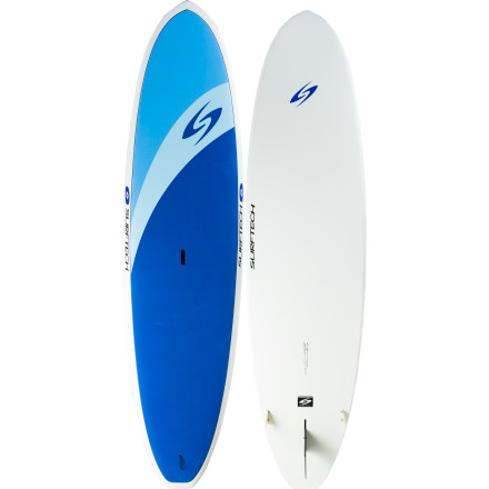 Fitness Start out the day with an early morning yoga session, then head out for a long tour down the coastline, and finally finish it up by catching a few waves, all on the Surftech Universal Stand-Up Paddleboard. It has a stable platform with full soft EVA coverage that makes it easy and safe to ride, and it's shaped with just enough rocker to rip waves, while retaining the paddling efficiency you want for long excursions. - $1,149.95