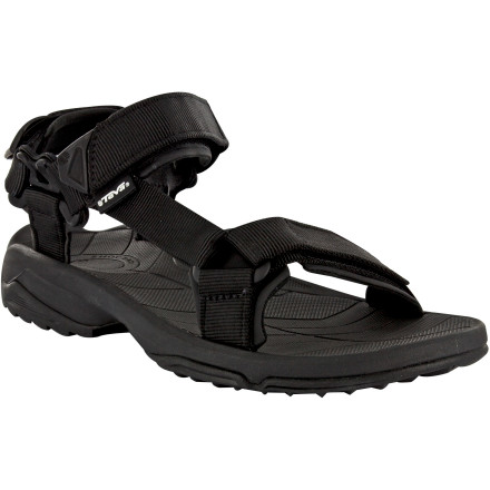 Surf Featuring the classic sport-sandal design that changed everything, the Teva Men's Terra Fi Lite Sandal maintains the look and performance of the original with a lower weight and enhanced agility. The hook-and-loop webbing straps adjust in three places for a secure fit, and the Spider Original rubber sticks like glue to wet terrain. - $67.96