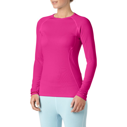 Fitness When your hut trip involves a lot of stop-and-go action, wear The North Face Womens Warm Zip-Neck Top. Its lightweight, but its hollow-core fibers and double-layer construction mean that youll stay nice and toastyeven when youre standing knee-deep in a powder field long after sundown. - $20.78