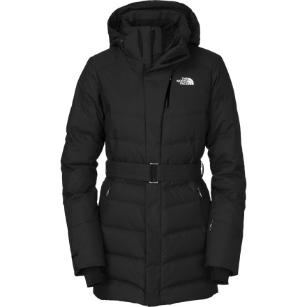 Toasty in freezing temps, resistant to wet weather, and stylish enough for a smooth slope-to-party-scene transition, The North Face Women's Greta Down Jacket is indispensable as do-it-all and do-it-looking-fabulous wear. This is definitely not a marshmallow-like puffy nor a wet blanket that will freeze over. This is well-equipped with on-hill featuresventing, powder skirt, goggle cloth, and moreand head-turning abilities. - $197.97