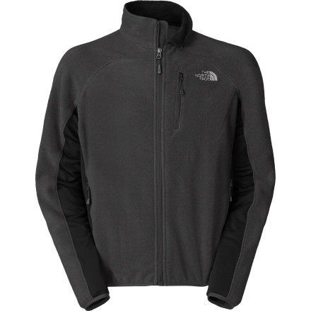 The North Face Men's Vicente Fleece Jacket combines the proven warmth and softness of Polartec fleece with advanced softshell side panels for improved performance. The TNF Apex Aerobic softshell fabric breathes to keep you dry and comfy on steep sections of trail and provides ample stretch for unrestricted freedom of movement. - $129.95