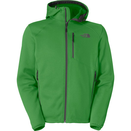 The North Face Cucamonga Fleece Jacket is the classic men's fleece jacket with a few added twists. The fixed, adjustable hood gives you an added level of protection and can be used under a shell hood as an insulating layer. The pack- and harness-friendly chest pocket stores small items that you need to grab in a hurry without getting in the way of your other gear, and a hem cinch cord, unusual in fleece jackets, seals out drafts and flying snow. - $148.95