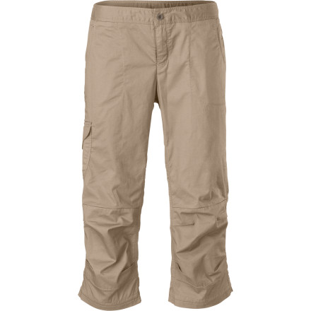 Camp and Hike Pull on The North Face Women's Bishop Capri Pant for a day of bouldering, sport climbing, or hiking. This lightweight, soft, stretchy pant features a harness-friendly, active design and an ankle-cooling cut. - $64.95
