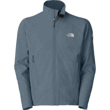 The North Face Men's Iodin Softshell Jacket fights the elements with sleek, soft, lightweight strength. It stretches to accommodate any on-wall or on-trail activity and wicks away moisture on the inside and resists weather on the outside for versatile all-day protection and comfort. Big alpine handwarmer pockets sit out of the way of pack or harness, and a trim, athletic fit prevents bulk and excess weight. - $129.95