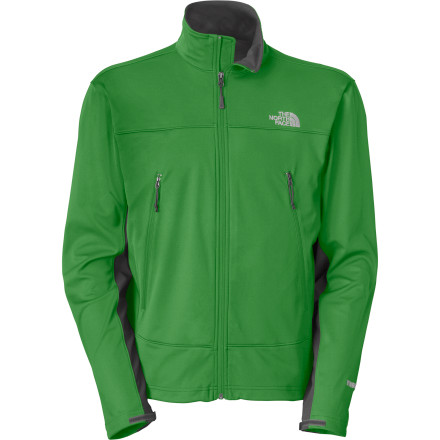 Whether you're cruising a single track or just checking out some mountain-town night life, zip up The North Face Men's Cipher Softshell Jacket for the kind of style and performance that can handle both. Three-layer WindStopper Softshell fabric has a sleek feel and stands up to chilly wind gusts while the burly TNF Apex Aerobic side panels stretch four ways for unrestricted mobility. - $148.95