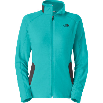 Climbing Lightweight, stretchy, and warm, The North Face Women's RDT 100 Full-Zip Fleece Jacket layers with a shell for bomber protection against nasty weather or goes it alone when you're working hard in milder conditions. With its FlashDry quick-drying and breathable comfort, you'll climb, hike, ski and never feel clammily damp. - $74.95
