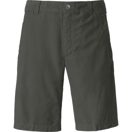 Camp and Hike Cotton keeps The North Face Men's Granite Dome Short cool and comfortable, while nylon slickback adds the material durability that climbers need. This short will keep you comfortable while you sit on belay in a harness or while you drag your body across hot, abrasive rock in the midday heat. After a few seasons, you'll start to wonder if this short is ever going to give up ... which is nice if you hate buying clothes. - $64.95