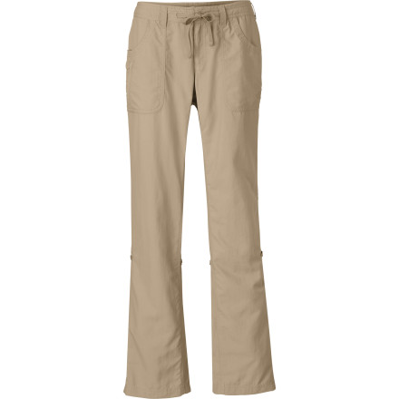 Camp and Hike Lightweight, durable, and fit for the wild, The North Face's Horizon Tempest Pant hikes with adaptability and climbs with finesse. A leg roll-up feature lets you cool off when the heat is on or puddle-jump without getting soaked. A relaxed fit and gusseted crotch allow tons of mobility for high steps and comfort. - $59.95