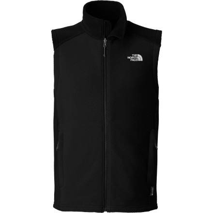 It's sleeveless design makes The North Face RDT 300 Vest the perfect top to put in your pack in case of a sudden drop in temperature. By removing the sleeve, The North Face made the RDT 300 heavyweight fleece pack down to an even more compact size, so you won't even know you're carrying it until you need it. - $74.95