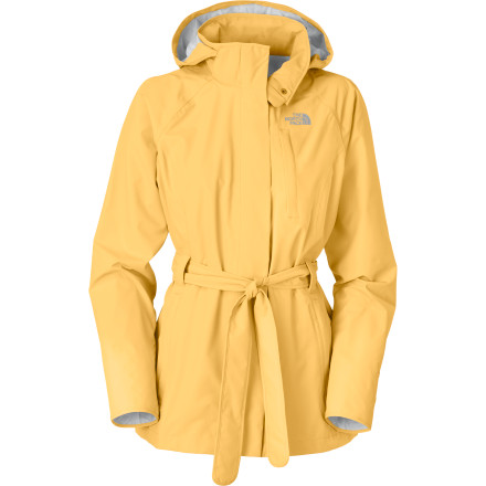 Weather a stormy commute or rainy sightseeing tour with ease in The North Face Women's K Jacket. The waterproof breathable HyVent 2L fabric prevents spring showers from dampening your day, a fully adjustable hood and snap-down front placket offer extra functionality, and the removable waist belt lets you customize your look. - $189.95