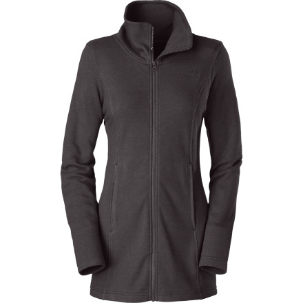 You don't always need the high-tech fleece with mesh and hooks and hidden pockets. Sometimes you simply want efficient, feel-good warmth with some style, so you grab The North Face Women's Lunelly Jacket. Still possessing the benefit of soft, cozy fleece, this jacket boasts a high collar and elastic-back shaping, so it's fit for both a stroll in the woods and one from gallery to gallery. - $79.95