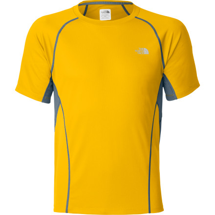 Fitness Run hard and fast and you're going to get wet and hot. With body-mapped ventilation panels and FlashDry material, The North Face Men's GTD Short-Sleeve Shirt excels at handling excess heat and moisture. Reach for this shirt when you need a lightweight performance shirt for trail or road running from late spring through early fall. - $39.95