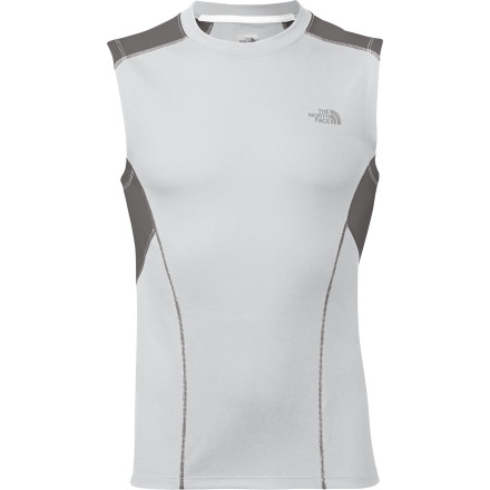 Fitness Sleeves are an annoyance for some runners, so The North Face went sleeveless when it created the Men's GTD Shirt. You get all the moisture-controlling benefits of FlashDry material, the temperature-regulating help of body-mapped ventilation panels, and the comfort of a pieced collar. Pull on this lightweight performance shirt for trail running in the dead of summer or hitting the pavement on a warm night in the early fall. - $34.95