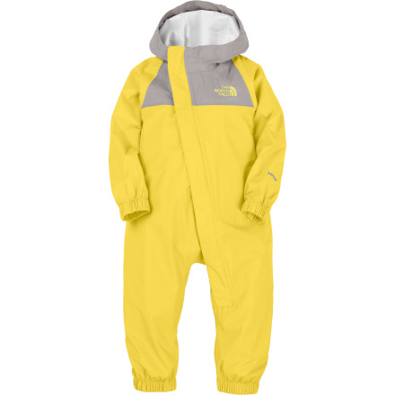 Camp and Hike Bundle your little angel up in The North Face Infant Girls' Resolve Rain Suit when there's an eighty-percent chance of light rain during your short hike into the backcountry. Its waterproof breathable 2L HyVent membrane and fully taped seams fend off light to heavy raindrops while you both enjoy a breath of fresh air. - $74.95