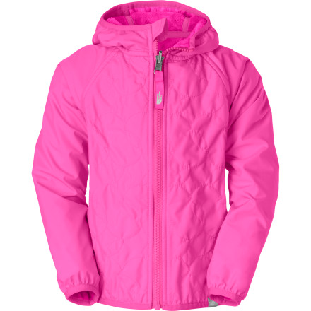 Skateboard Layer your little snow bunny in The North Face Toddler Girls' Lil' Breeze Reversible Wind Jacket. This lightweight, reversible hoodie features recycled taffeta fabric on one side and cozy fleece on the other for total comfort while you teach her how to ice skate or take a nature walk in the spring. - $69.95