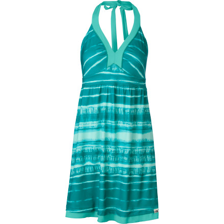 Camp and Hike As you pack for your desert vacation, don't forget The North Face Women's Echo Lake Dress. After a long day of hiking or climbing, take a dip in the river, towel off, put on this luxuriously-comfortable halter-style dress, and enjoy a relaxing evening by the campfire. - $64.95