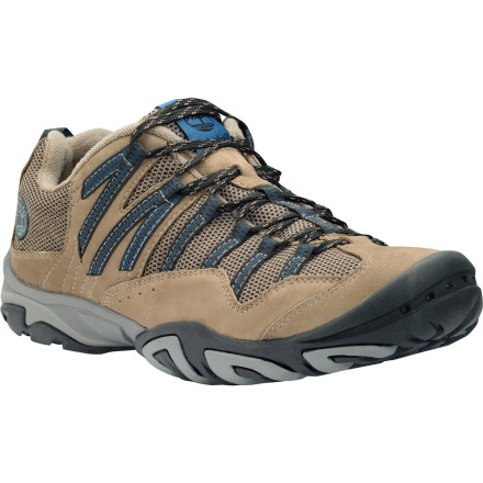Camp and Hike Although it might appear casual on the surface, the Timberland Men's Earthkeepers Intervale Hiking Shoe has the heart of a highly capable hiker. Durable materials protect your foot from rocks and roots, the contoured fit cradles your foot with enough support for all-day hiking, and the sticky sole and stabilizing shank provide talon-like grip on the trail. Slide your foot into this lightweight hiker and leave your heavy backpacking boots behind, unless of course you're actually backpacking. - $76.46