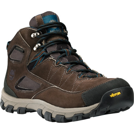 Camp and Hike When you lace up the Timberland Men's Earthkeepers Intervale Waterproof Hiking Boot, you're making a choice that's good for your feet and the environment. The tough leather uppers and internal waterproof membrane keep your feet dry in wet weather while the EVA midsole and TPU shank provide enough support and cushion for rough terrain. Concerning the earth, the PET mesh lining, laces, and Vibram EcoStep rubber sole are all made from recycled materials. - $110.46
