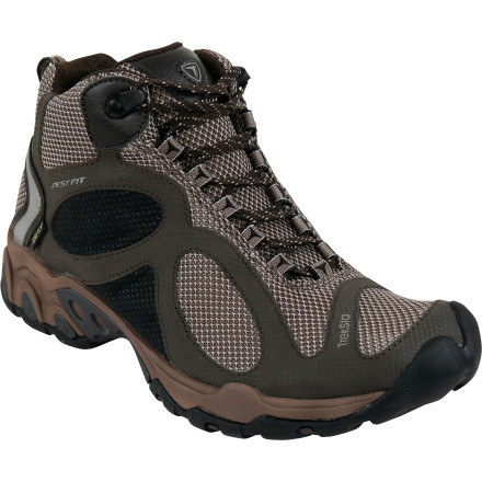 Camp and Hike Enjoy four seasons of fun in the TrekSta Women's Evolution Mid GTX Boot. Built with a Gore-Tex Extended Comfort membrane, this breathable and waterproof workhorse has a Backpacker Magazine Editor's Choice Award under its belt. And with good reason: all-seasons adventurers can rely on the glue-like traction provided by an IceLock HyperGrip sole. - $159.95