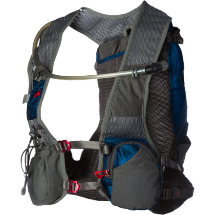 Fitness Designed to meet the unique demands of ultra-marathon runners, the UltrAspire Omega Hydration Vest provides an ideal combination of storage space, low weight, and a runner-specific harness system. The Compressi-flex suspension stabilizes the load for a bounce-free carry that doesn't restrict your ability to breathe or move freely, and the quick-access reservoir compartment allows you to rapidly refill the bladder mid-race. - $141.95