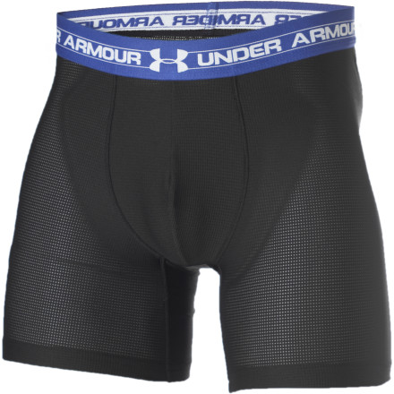 Fitness Under Armour 6in Boxers are made with soft, sweat-wicking, 4-way stretch material that moves with you while you workout, so there's no bunching or binding like you get with traditional men's underwear. - $21.95