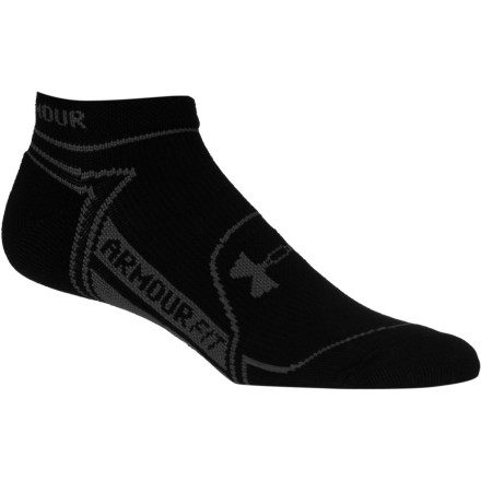 Fitness Hit the road running in the Under Armour Rival No-Show Sock. With strategically placed stretch and cushion zones, as well as elevated support in the arch and ankle zones, the Rival will help take your running to the next level. - $14.95