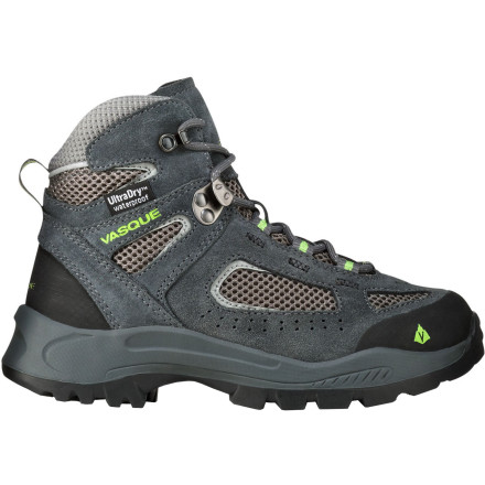 Camp and Hike With all the function and performance of an adult hiker, the tough, light Vasque Kids' Breeze 2.0 WP Hiking Boot scales it down to kid-size. No blinking lights, 'toons, or smiley faces; this boot simply protects your little adventurer's foot from wet, damp, slippery, rugged conditions with waterproof, breathable, and sticky-rubber greatness. - $71.96