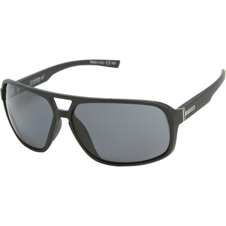 Camp and Hike The Von Zipper Decco is like a party barge in the vast sea of sub-par shades. These sunglasses not only slap your face with fresh aviator style, their polarized lenses nix glare from reflective surfaces such as water, snow, and the rear-view mirror of your 66 Impala station wagon. - $139.95