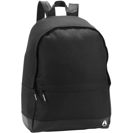 Camp and Hike No need to look through a zillion pockets in your backpack trying to find the one pen you own. Keep it simple with the Nixon Platform II Backpack. A large main compartment holds the big stuff, and a low-profile front pocket takes care of the little things. - $39.95