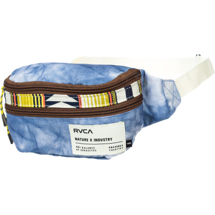 Camp and Hike When you head for your favorite music festival this summer to be surrounded by twenty thousand other dirty hippies, keep everything you need for each day safely tucked into your RVCA Ravage Waistpack. Two zippered compartments keep your essentials secure and organized so you know where everything is when things start to get weird. - $24.95