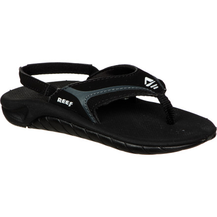 Surf Keep your little tyke's toes from burning up on the hot sand with the Reef Slap II Toddler Boys' Sandal. The soft EVA footbed will keep his feet comfy throughout the day, and the back heel strap prevents him from slinging his sandals into the sea when he gets excited. - $20.76