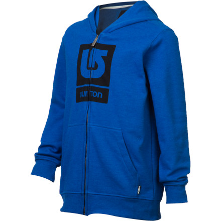 Snowboard Thrown on the Burton Boys' Logo Vertical Full-Zip Hooded Sweatshirt after a long day of shred. - $50.95