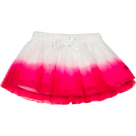 Surf Pretty as a picture and infinitely more fun than a onesie, the dip-dye Roxy Infant Girls' Dynomite Skirt delivers layer after layer of adorable baby style. A flash of fuchsia on polyester tulle lights up any room. - $34.00