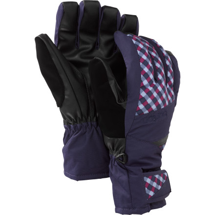 Snowboard If you suffer from frozen fingers throughout most of the season, do your hands a favor and pick up the Burton Gore-Tex Women's Under Snowboard Glove. It has a removable liner so you can double up when temps get really cold, and when spring rolls around you can wear just the outer shell or even just the liner on the warmest days. And if that's not enough, it has a pocket you can slide a handwarmer onto for ultimate comfort, plus the shell has a Gore-Tex membrane to keep your fingers dry. Because wet hands equal cold hands. - $48.93