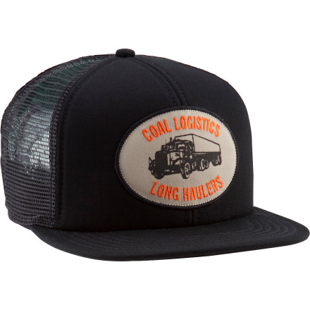 The Coal Hauler Trucker Hat tops your disguise as a real trucker when you and your team organize a strike against the oil companies by commandeering full trucks of crude and pumping the contents back into the Earth. It's not as easy as it sounds, because even though this mesh hat keeps you cool on the drive, your stunt takes you to an abandoned well in west Texas, where everything is bigger. - $19.95
