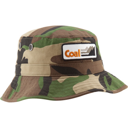 Skateboard Beat the heat this summer by keeping your head shaded with the Coal Spackler Hat. The full-wrap brim keeps the sun off your face and a chin strap keeps it securely on your head when it gets windy or you're skating. - $24.95