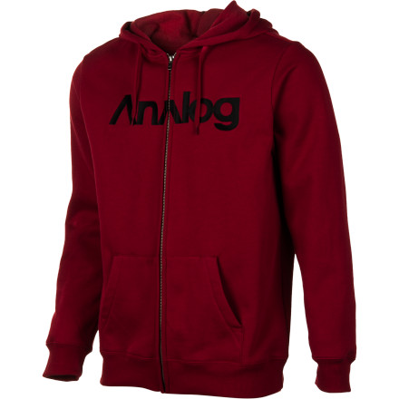 Skateboard Youre never alone when you have the Analog Analogo Full-Zip Hooded Sweatshirt and a decent fountain drink. - $43.37