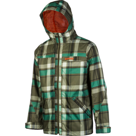 Snowboard Don't let April showers keep you in the house all spring. Throw on the Burton 2L Anthem Men's Rain Jacket and watch the raindrops roll right off the Airtech fabric as you stroll through downtown. - $69.97