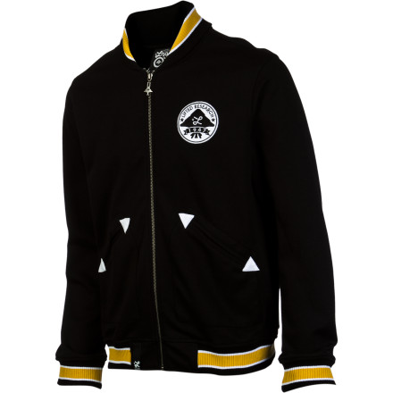 Do some jumping jacks and get warmed up for the big race in the LRG Sapwood Men's Track Jacket. Or just wear it to the bar on a chilly evening and relive your glory days on the track while working on your beer belly. - $61.07